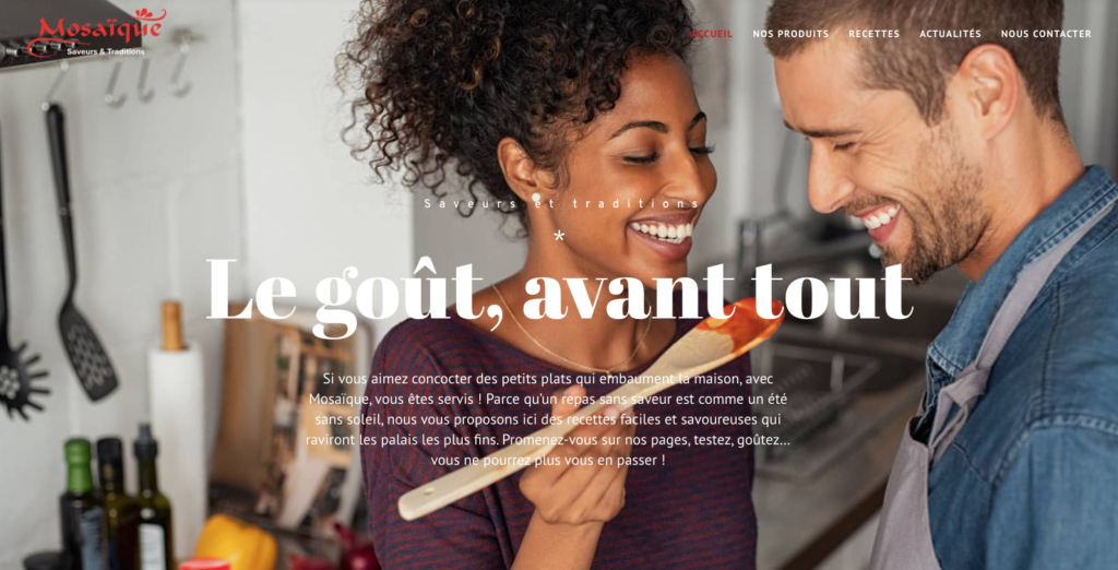 Lancement de notre site www.jecuisinemosaique.fr